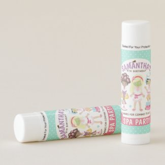 Cool and Girly Spa Party Lip Balm