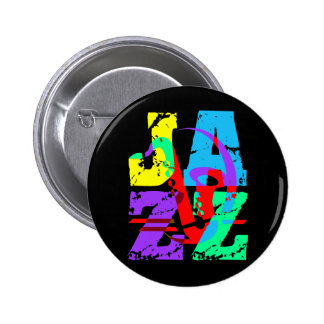Cool and hip Jazz Pinback Button