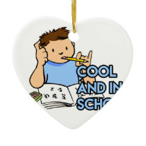 Cool and in School Ceramic Ornament