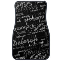 cool and modern names pattern personalized car mat