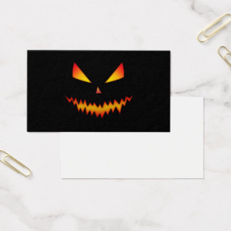 Cool and scary Jack O'Lantern face Halloween Business Card
