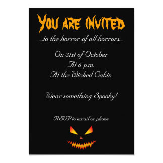Cool and scary Jack O'Lantern face Halloween Card