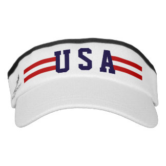 Cool and Sporty Patriotic USA Red Stripes Visor