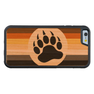 Cool and Stylish Bear Pride Flag and Bear Paw Carved® Cherry iPhone 6 Bumper Case