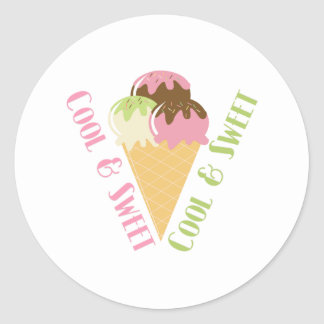 Cool and Sweet Classic Round Sticker