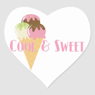 Cool and Sweet Heart Sticker