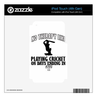 cool and trending CRICKET DESIGNS Decals For iPod Touch 4G