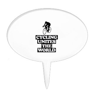 cool and trending cycling DESIGNS Cake Topper