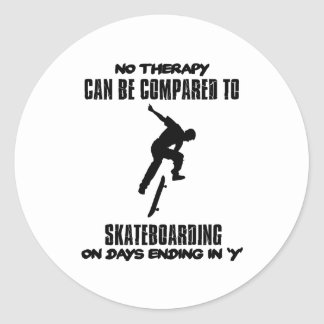 cool and trending skateboarding DESIGNS Classic Round Sticker