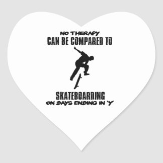 cool and trending skateboarding DESIGNS Heart Sticker