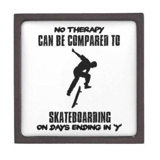 cool and trending skateboarding DESIGNS Keepsake Box