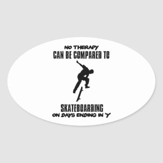 cool and trending skateboarding DESIGNS Oval Sticker