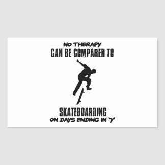 cool and trending skateboarding DESIGNS Rectangular Sticker