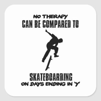 cool and trending skateboarding DESIGNS Square Sticker