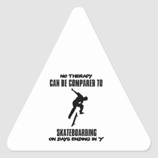 cool and trending skateboarding DESIGNS Triangle Sticker