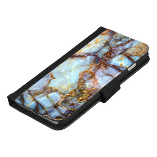Cool and Trendy Marble Stone Texture Pattern iPhone 8/7 Plus Wallet Case