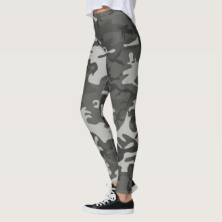 Cool and Trendy Urban Camouflage Pattern Leggings