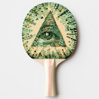 Cool and Unique Camouflage Illuminati Ping-Pong Paddle