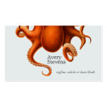 Cool and Unique Octopus Marine Biology Nautical Double-Sided Standard Business Cards (Pack Of 100)