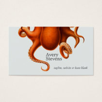 Cool and Unique Octopus Marine Biology Nautical Business Card