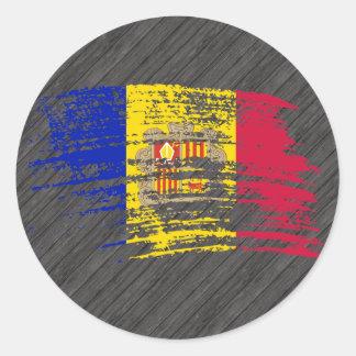 Cool Andorran flag design Classic Round Sticker