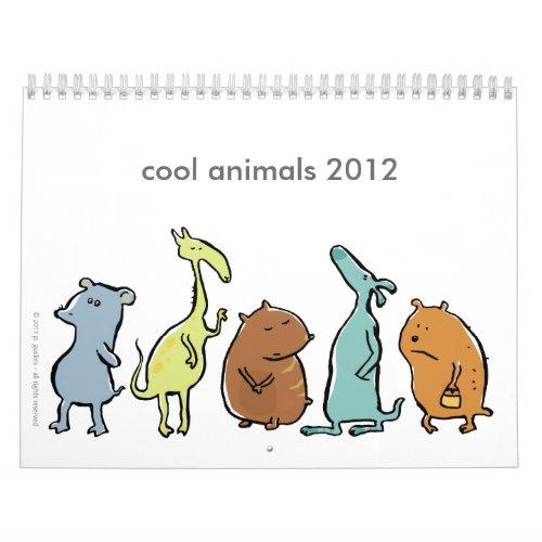 cool animals 2012 (customizable) calendar