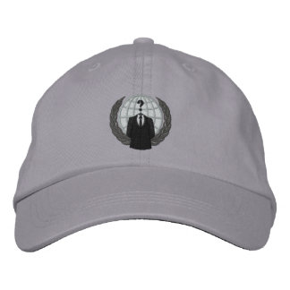 Cool Anonymous Logo Embroidered Cap