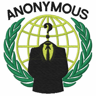 Cool ANONYMOUS Logotype embroidery