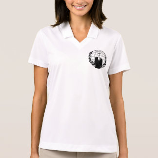Cool Anonymous Logotype Graphic Polo Shirt