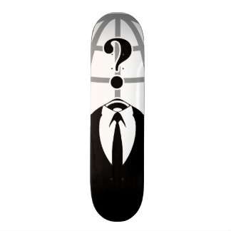 Cool Anonymous Logotype Skate Board