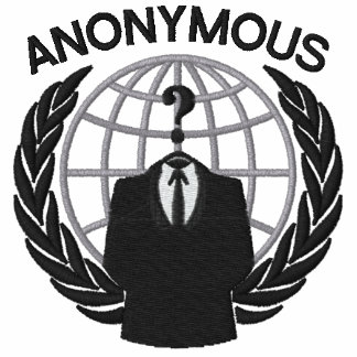 Cool Anonymous Symbol Logotype embroidery
