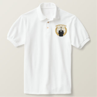 Cool Anonymous Symbol Logotype embroidery Polo