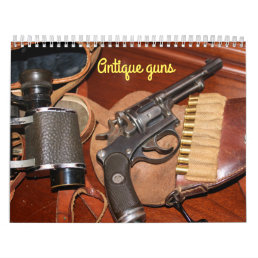 Cool antique guns calendar