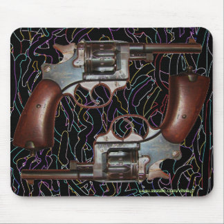Cool antique guns mousepad design