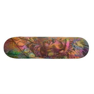 Cool antique native american Indian clipart colour Skateboard Deck