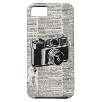 Cool Antique Newsprint Retro Film Camera iPhone SE/5/5s Case