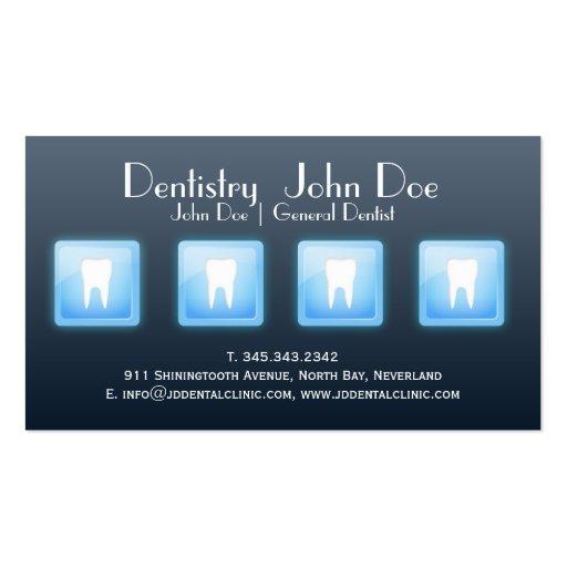 Cool app white teeth bubble dental business card