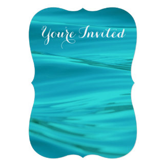 Cool Aqua Blue Summer Water Ripples Personalized Announcement