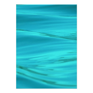 Cool Aqua Blue Summer Water Ripples Invitations
