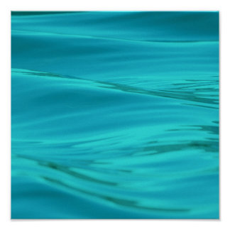 Cool Aqua Blue Summer Water Ripples Poster