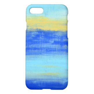 Cool Aqua Blue Turquiose Nautical Abstract Art iPhone 7 Case