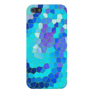 Cool Aqua Blue Violet Mosaic Pattern iphone 5 Case