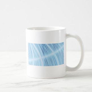 Cool Aqua Light Blur Feather Design turquoise Coffee Mug