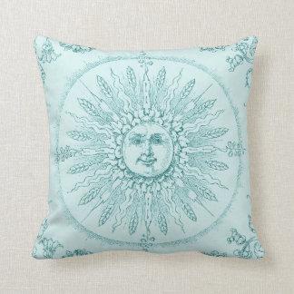 Cool Aqua Sunshine Pillows