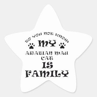 Cool arabian mau CAT designs Star Sticker
