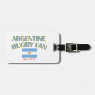 cool Argentine rugby fan DESIGNS Luggage Tag