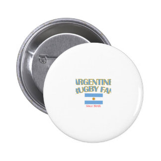cool Argentine rugby fan DESIGNS Pinback Button