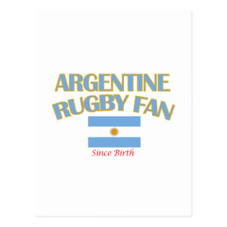 cool Argentine rugby fan DESIGNS Postcard