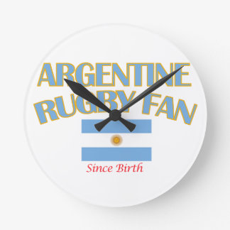 cool Argentine rugby fan DESIGNS Round Clock