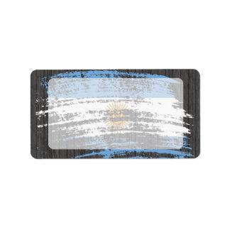 Cool Argentinean flag design Address Label